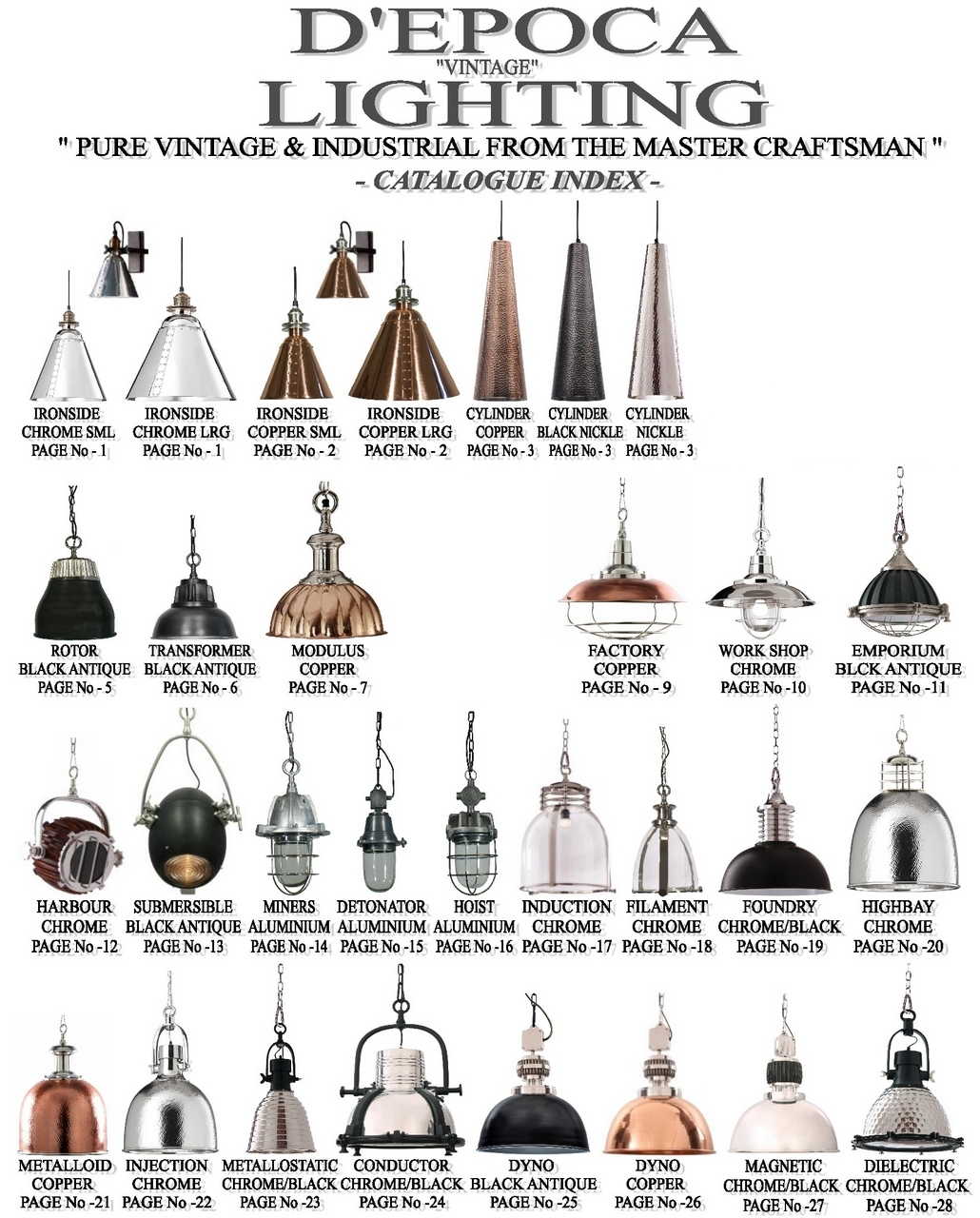 D'epoca Vintage Copper Lighting Retailer