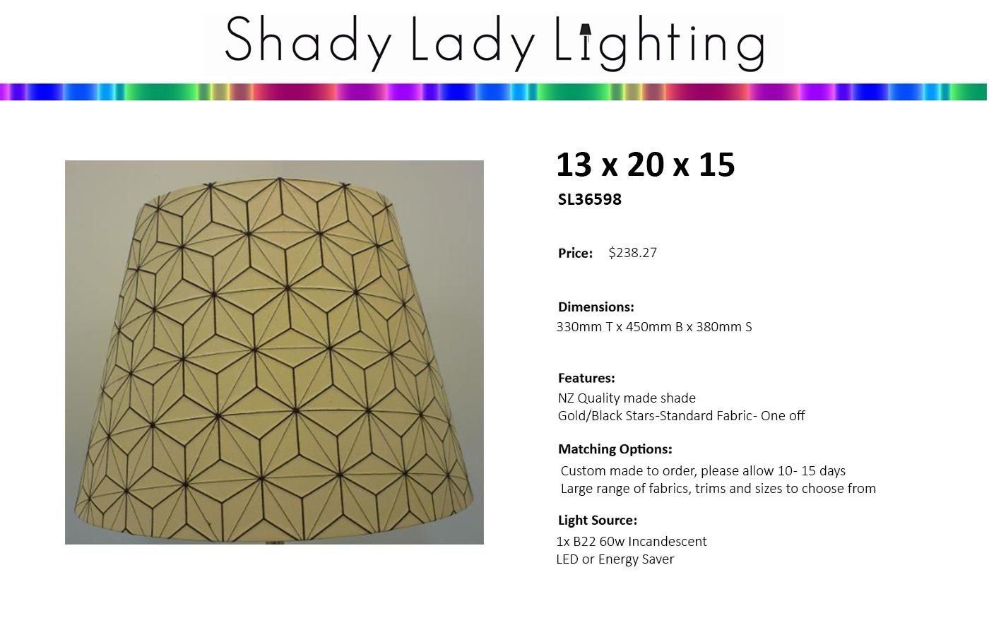 Nz made designer fabric shades lampshades pendant hanging shades 14x14x10 cork aloadofball Gallery
